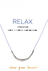 "Little Be Design Morse Code ""Relax"" necklace"