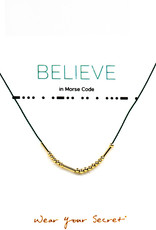 "Little Be Design Morse Code ""Believe"" necklace"