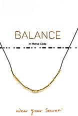 "Little Be Design Morse Code ""Balance"" necklace"