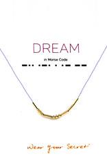 "Little Be Design Morse Code ""Dream"" necklace"