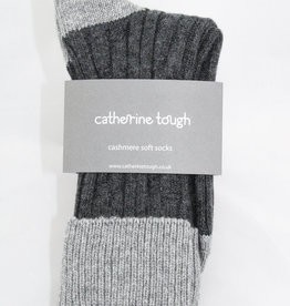 Catherine Tough Men's Cashmere Slouch Charcoal/Grey