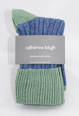 Catherine Tough Ladies Cashmere Slouch Denim/Mint