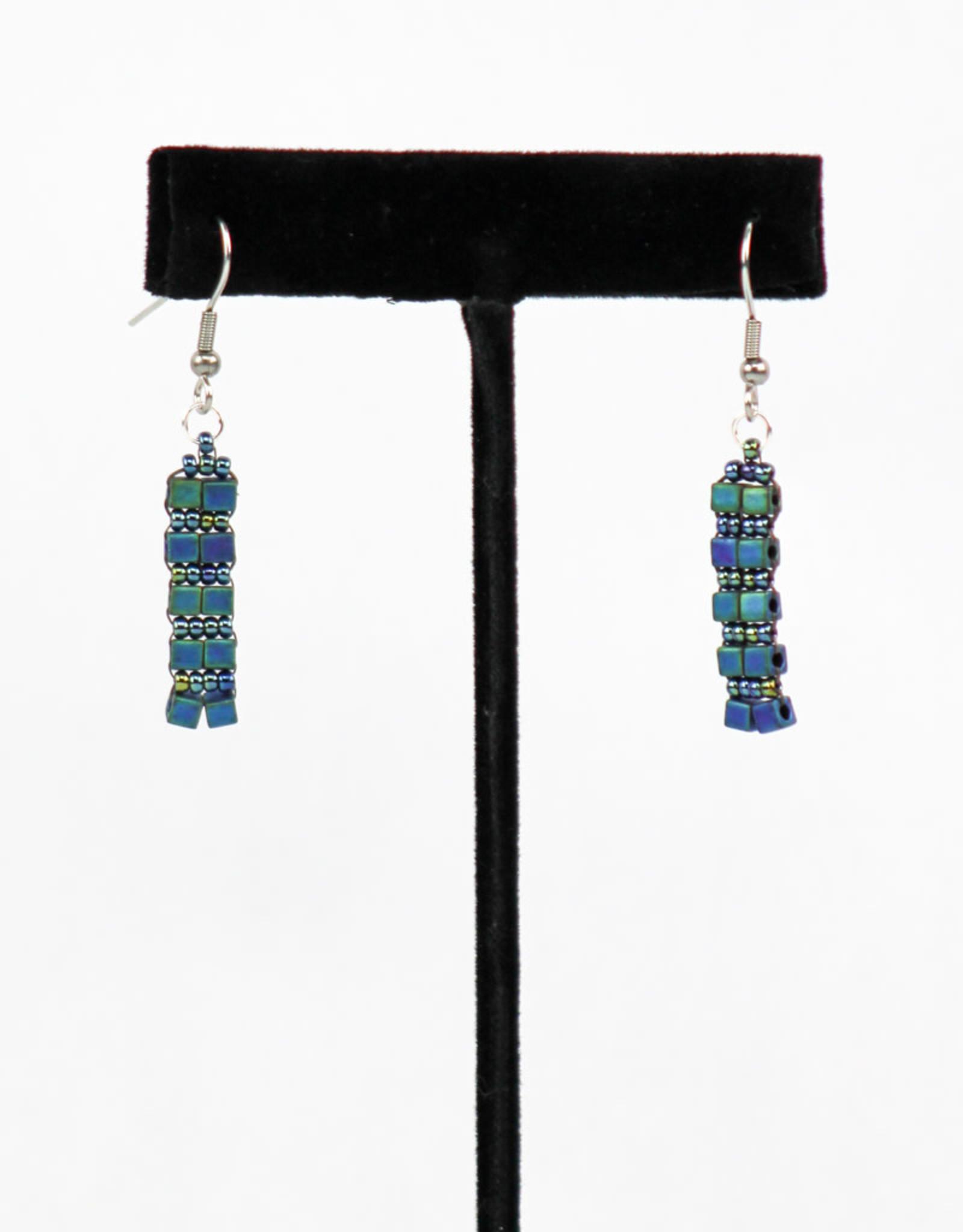 Creations Beaded Glass Earrings