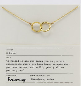 Becoming Jewelry Intertwined Circles Necklace-Gold fill