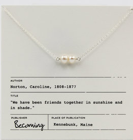 Becoming Jewelry Friends Pearl Necklace-Sterling