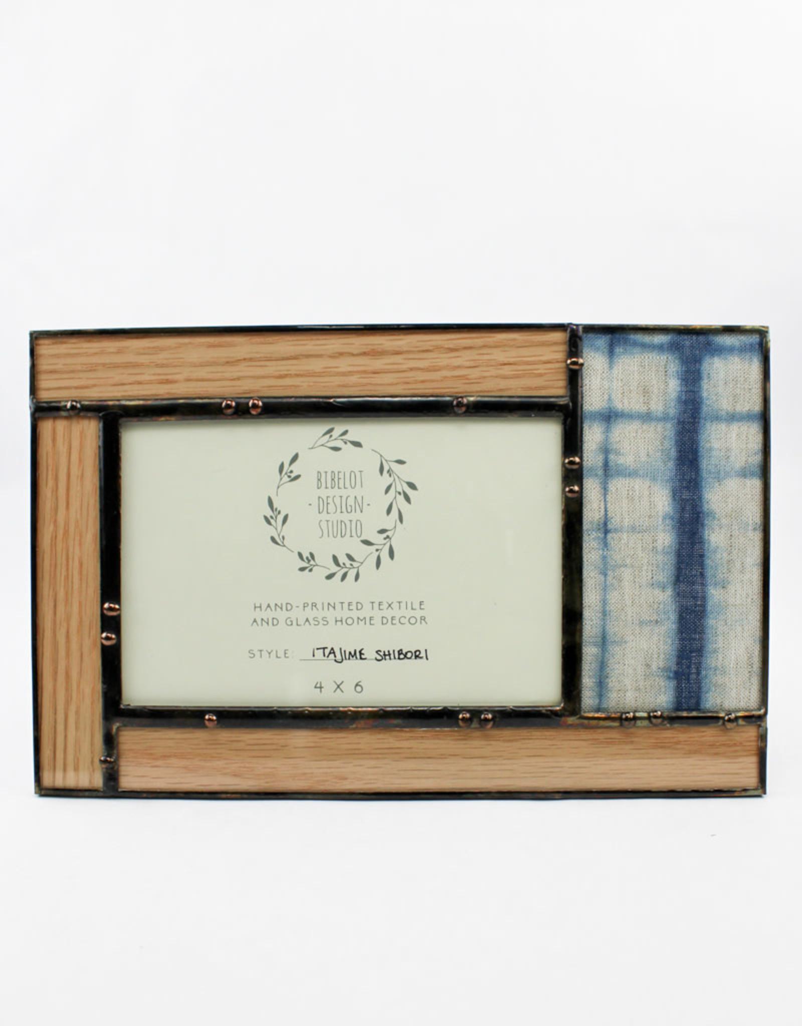 Bibleot Designs 4x6 Itajime Shibori Panel Frame