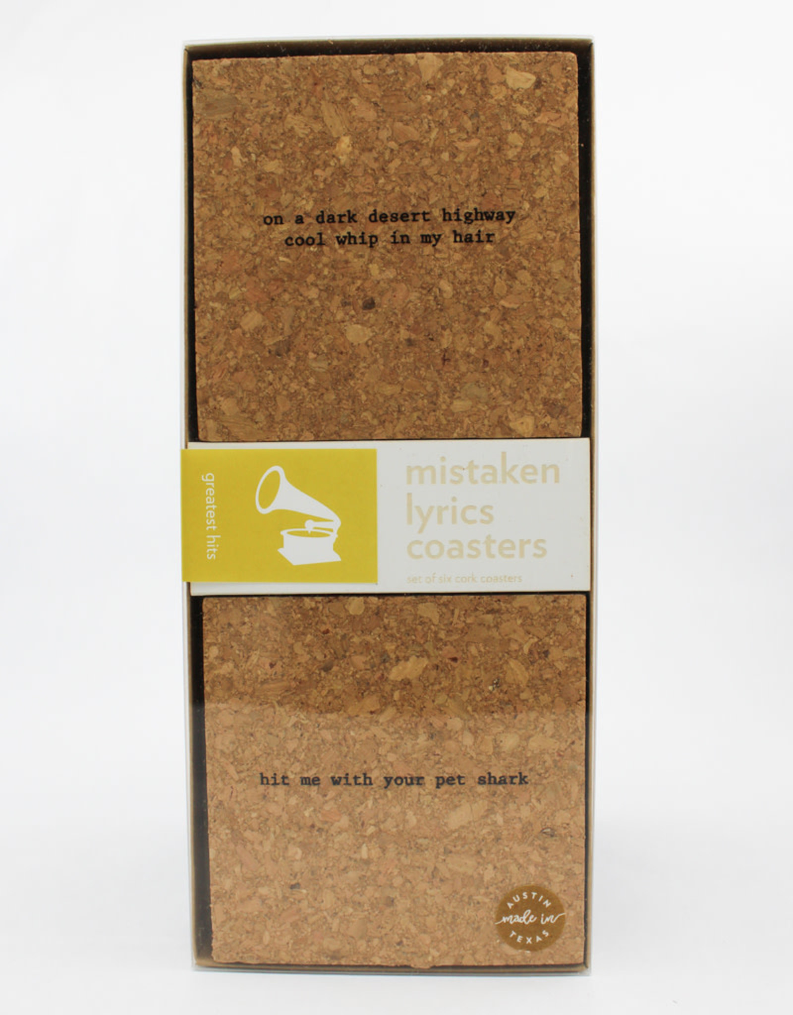 Bright Beam Goods Greatest Hits Cork coaster Gift Set