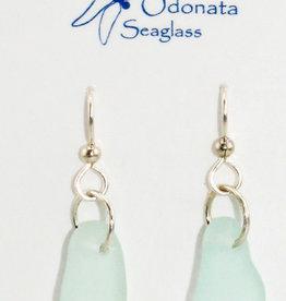 Odonata Sea Glass Earrings