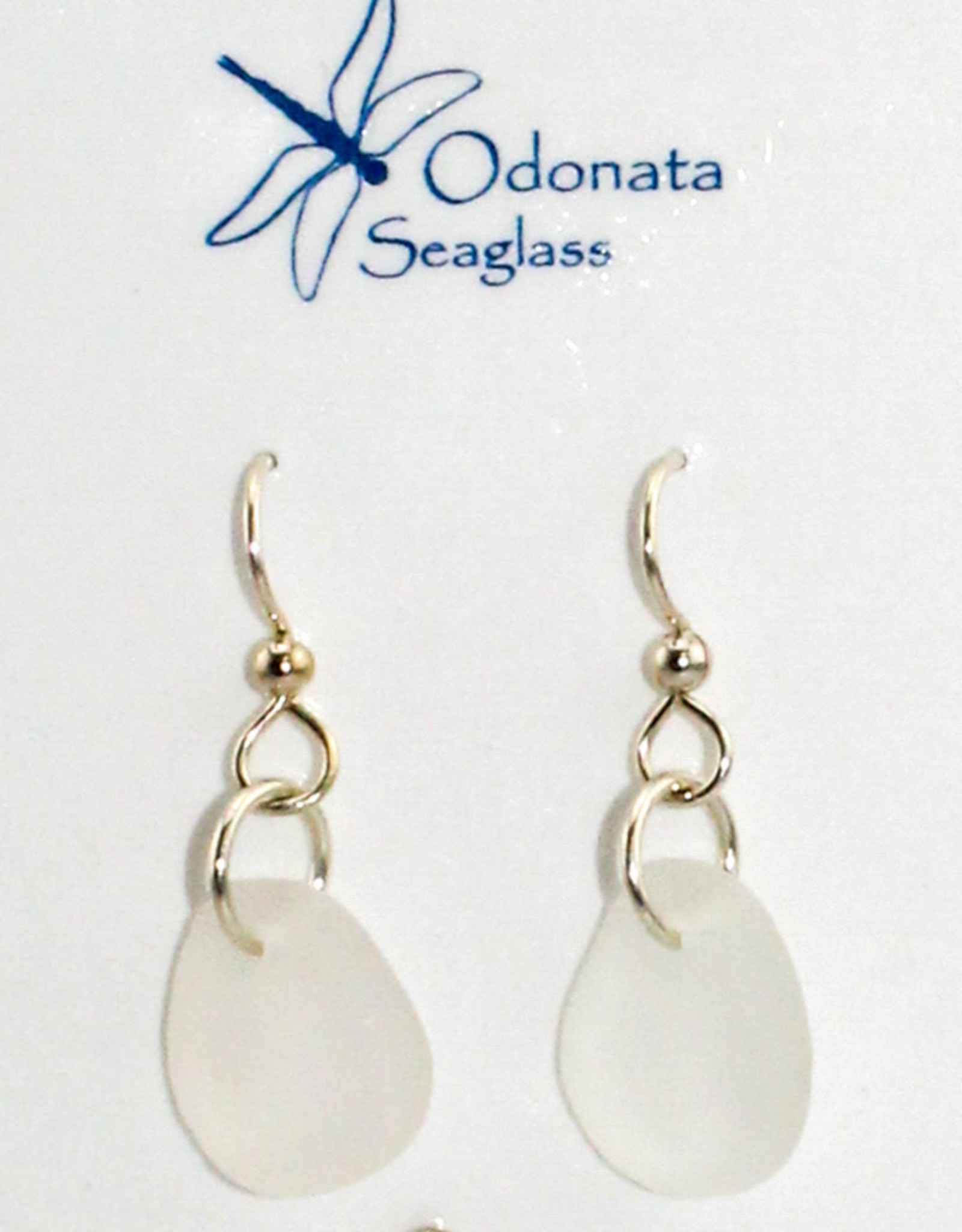 Odonata Sea Glass Earrings