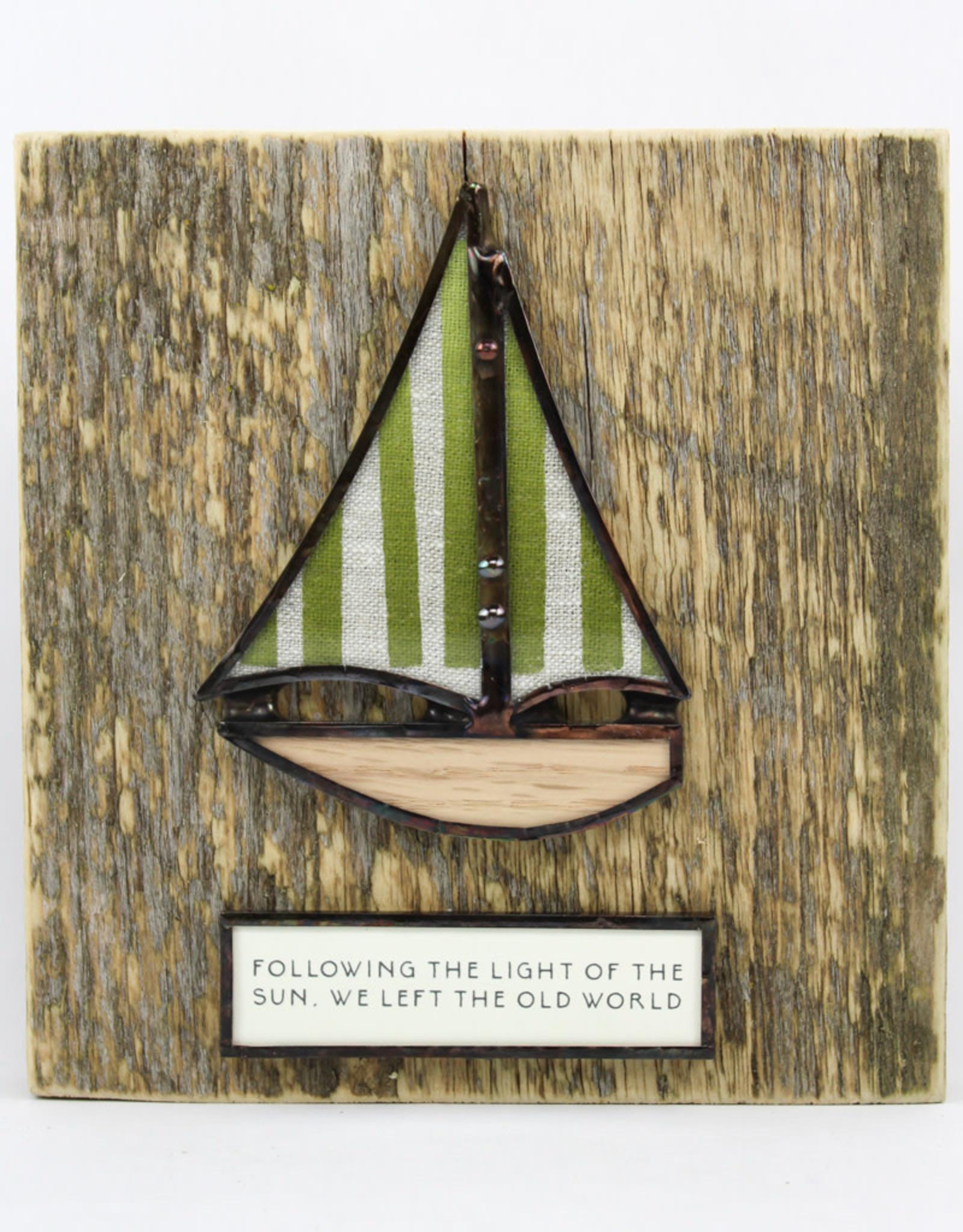 Bibleot Designs Wall Tile Sailboat Lake Time