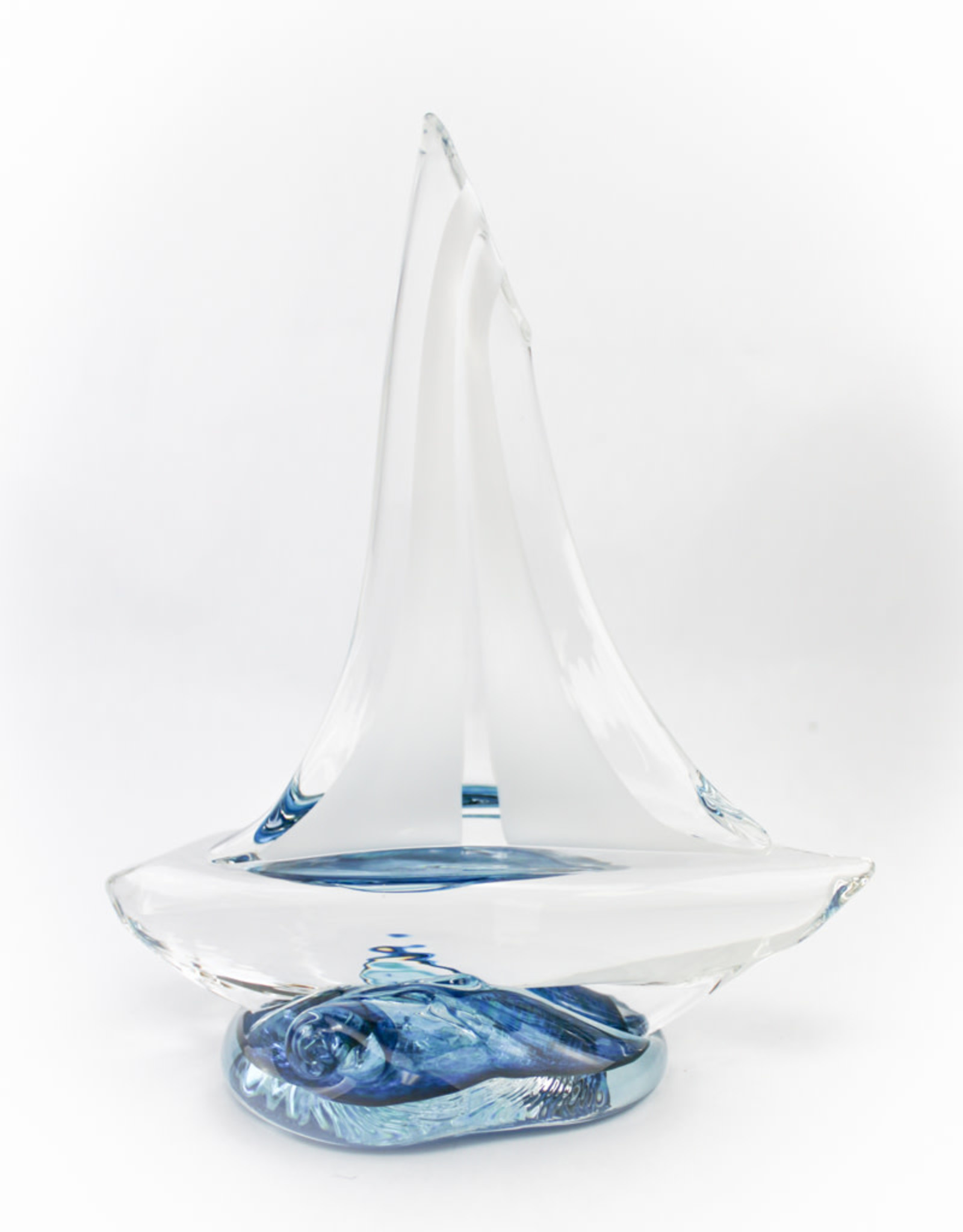 Anchor Bend Glassworks, LLC Glass Sailboat - XS