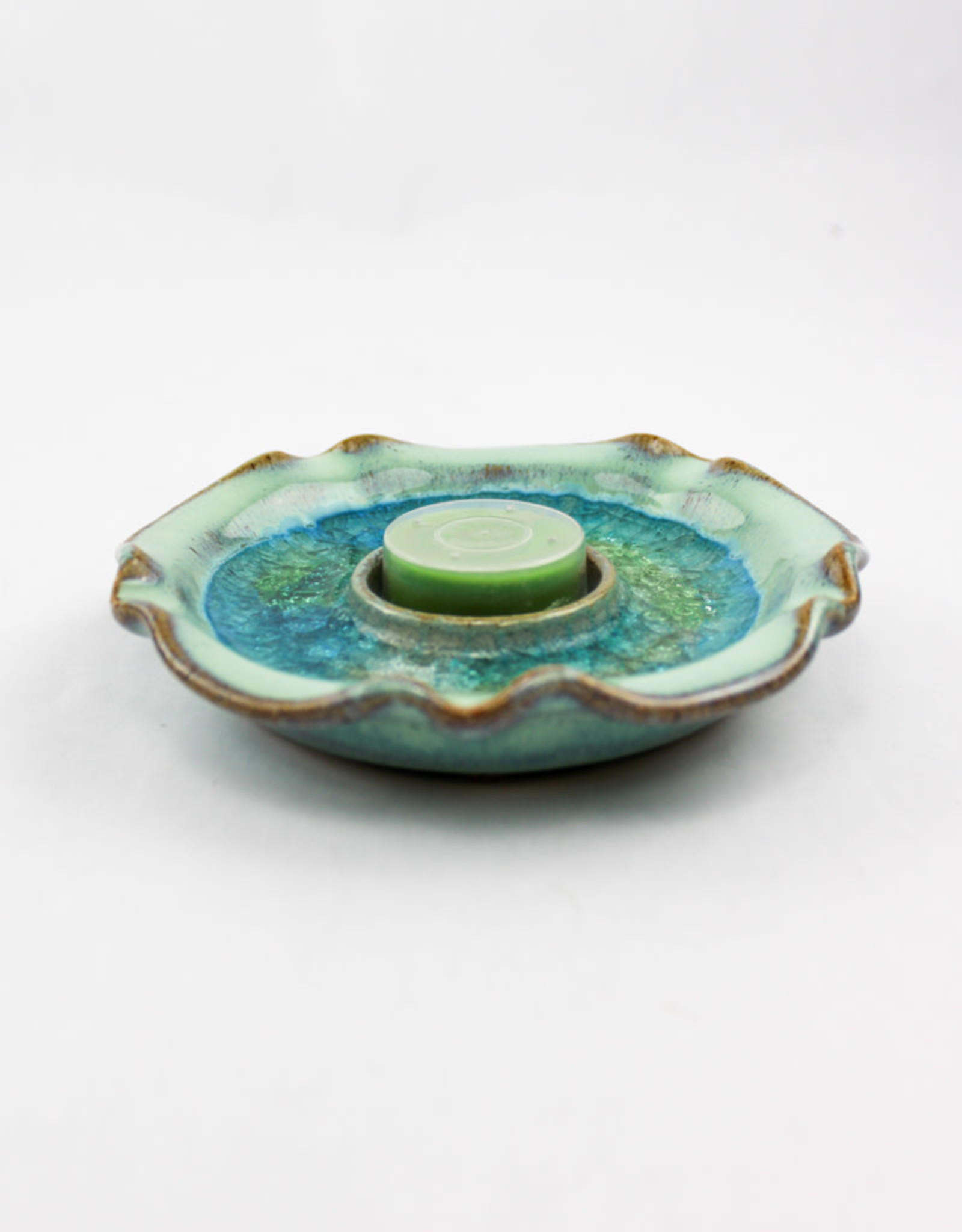 Down to Earth Pottery Tealight Holder Blues