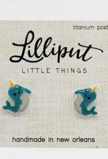 Lilliput Narwhal Earrings