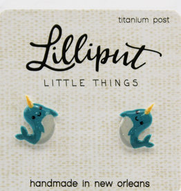 Lilliput Narwhal Earrings
