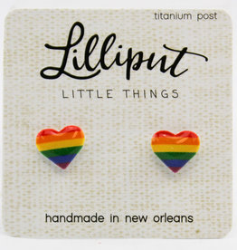 Lilliput Rainbow Heart Earrings