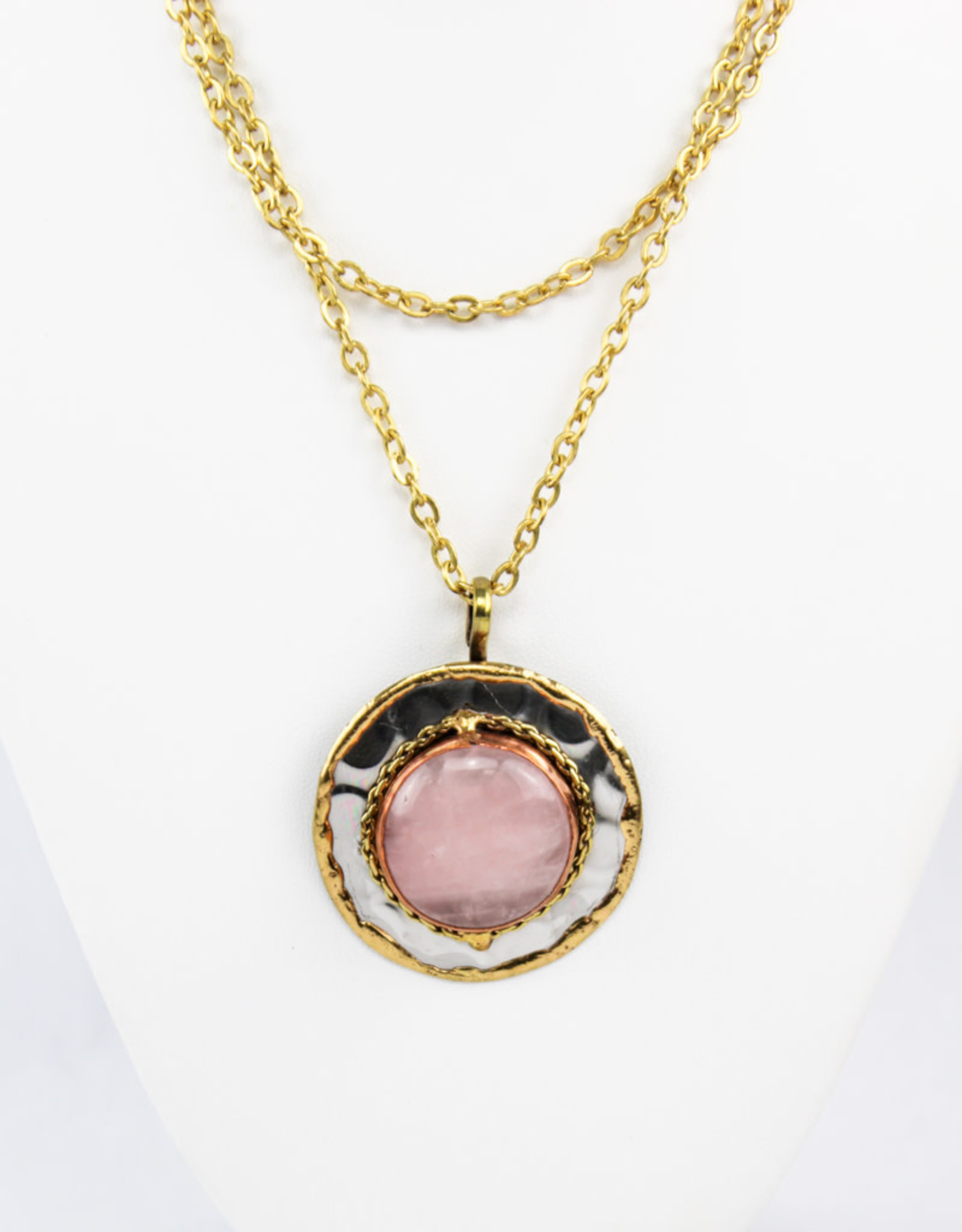 Anju Jewelry Janya Rose Quartz Pendant