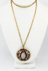 Anju Jewelry Mixed Metal Moonstone Necklace