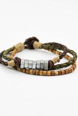 Anju Jewelry Aadi Silver Nuts Men's Bracelet