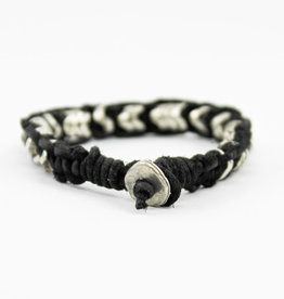 Anju Jewelry Aadi Black Leather Men's Bracelet