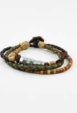 Aadi Silver Nuts Men's Bracelet