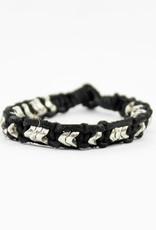 Anju Jewelry Aadi Black Leather Men's Bracelet