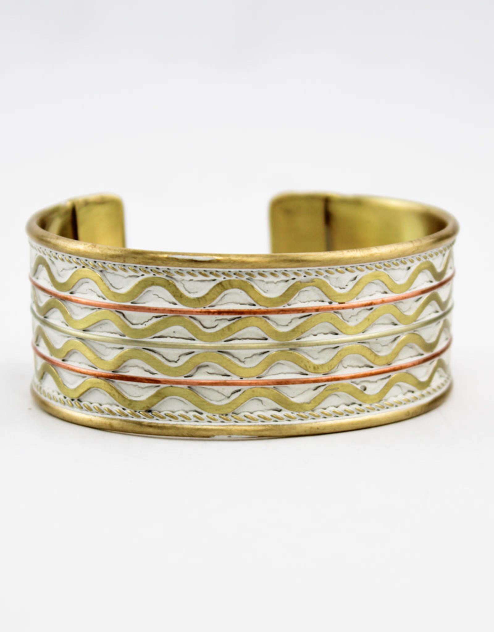 Anju Jewelry Brass Patina Bracelet White
