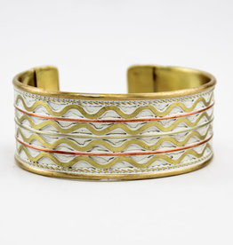 Anju Jewelry Brass Patina Bracelet White