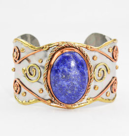 Anju Jewelry Mixed Metal Lapis Stone Bracelet