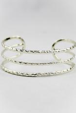 Anju Jewelry Silver Plated Adjustable Cuff