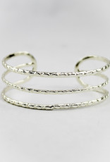 Silver Plated Adjustable Cuff