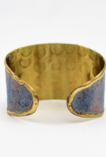 Anju Jewelry Brass Patina Lines Adjustable Cuff
