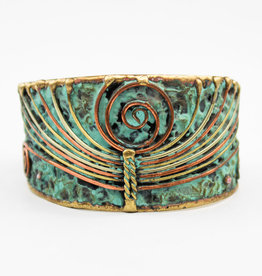 Anju Jewelry Brass Patina Adjustable Cuff