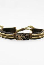 Anju Jewelry Pewter Adjustable Leather Bracelet