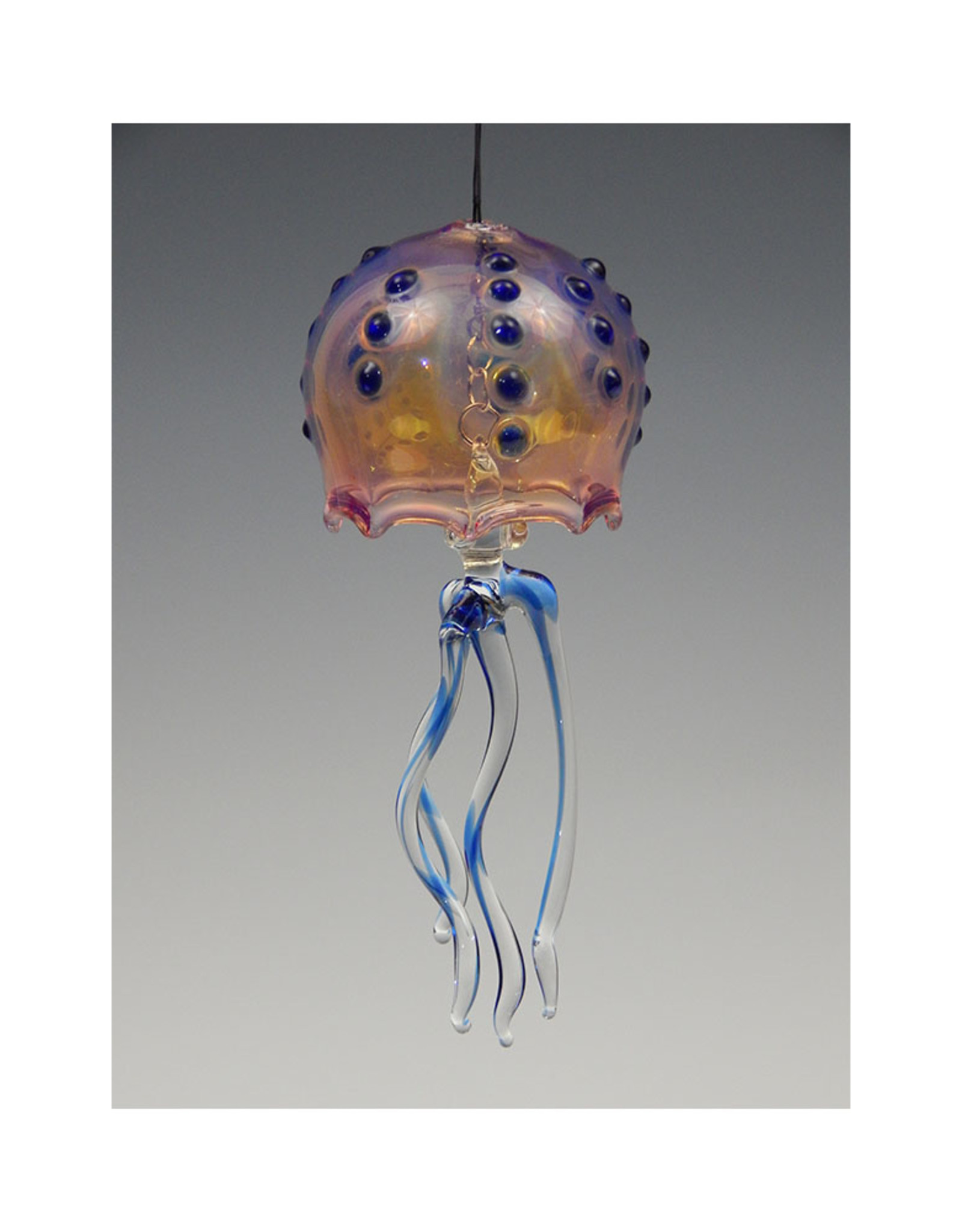720 Glassworks Jelly Bell Cobalt Dot Large