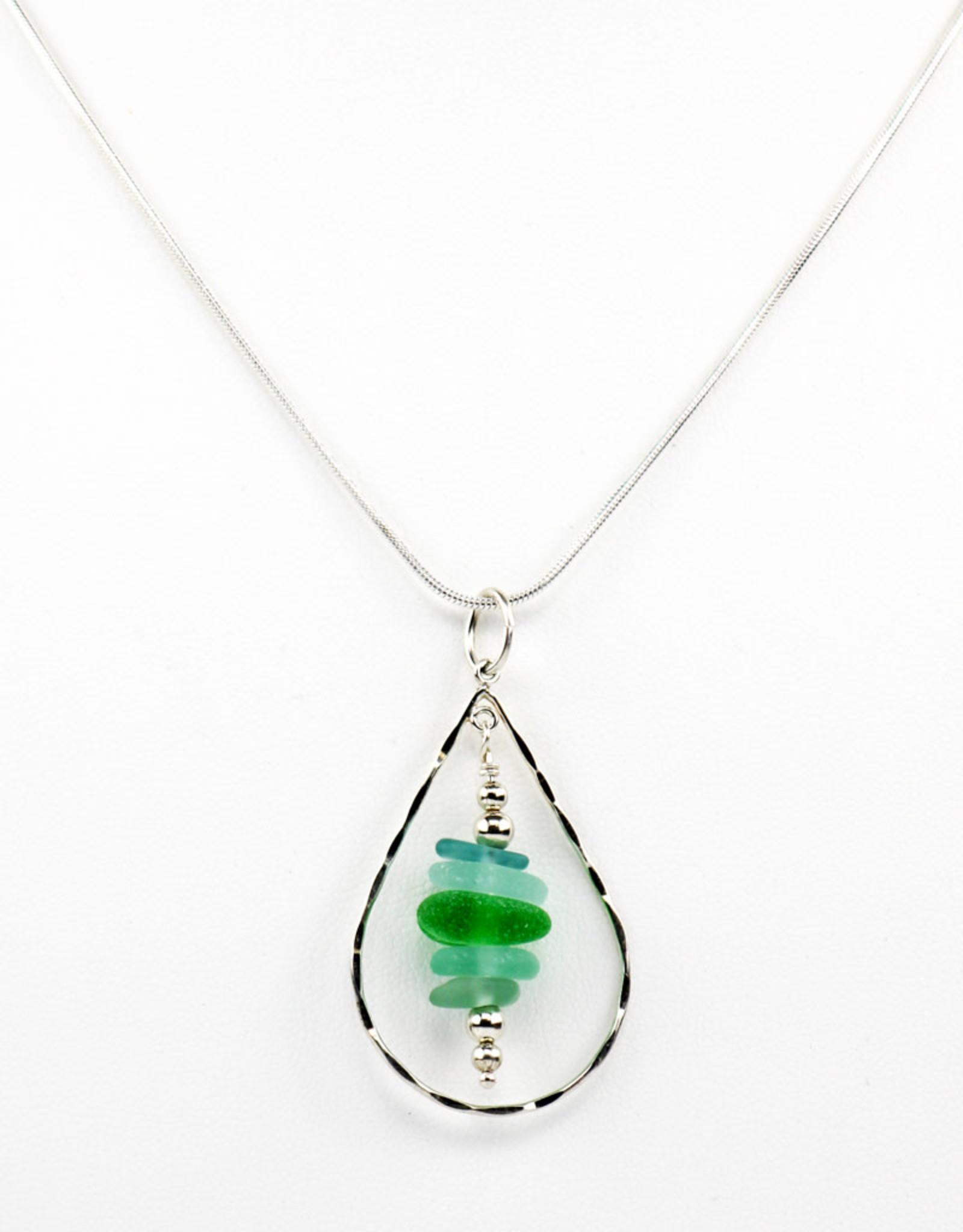 Odonata Pendulum Seaglass Necklace
