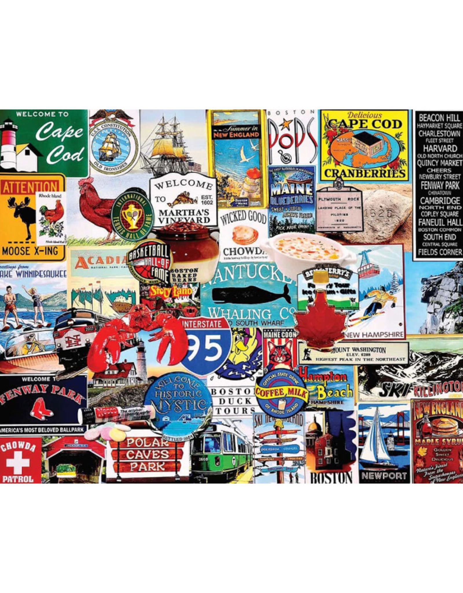White Mountain Puzzles I Love New England 1000pc Puzzle