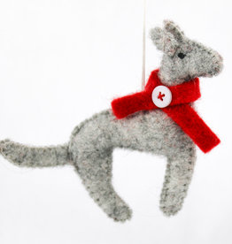 Global Crafts Felt Dog Ornament