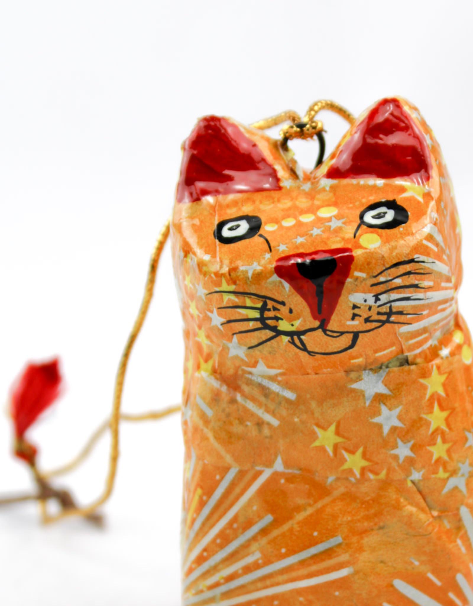 Global Crafts Handpainted Cat Ornament