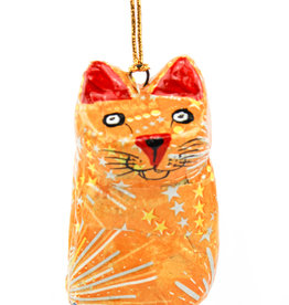 Global Crafts Handpainted Cat Ornament
