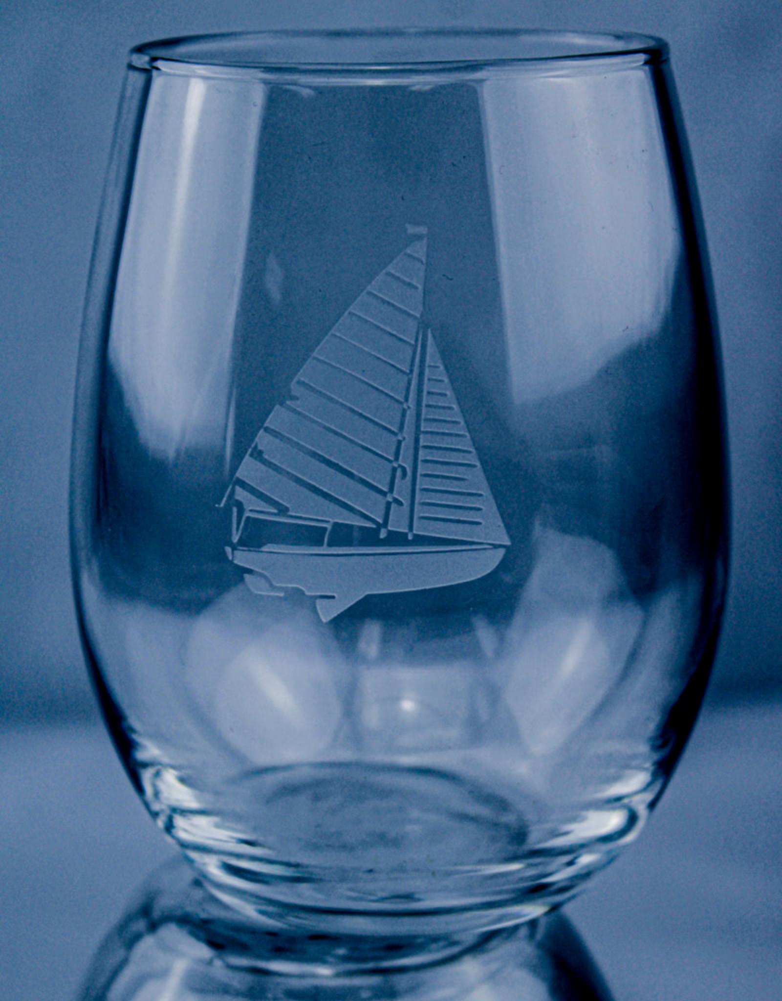 J Charles Stemless Wine Sailboat