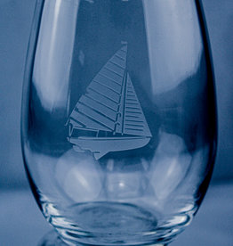 J Charles Stemless Wine Sailboat