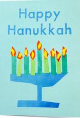 Create Menorah Happy Hanukkah Blue