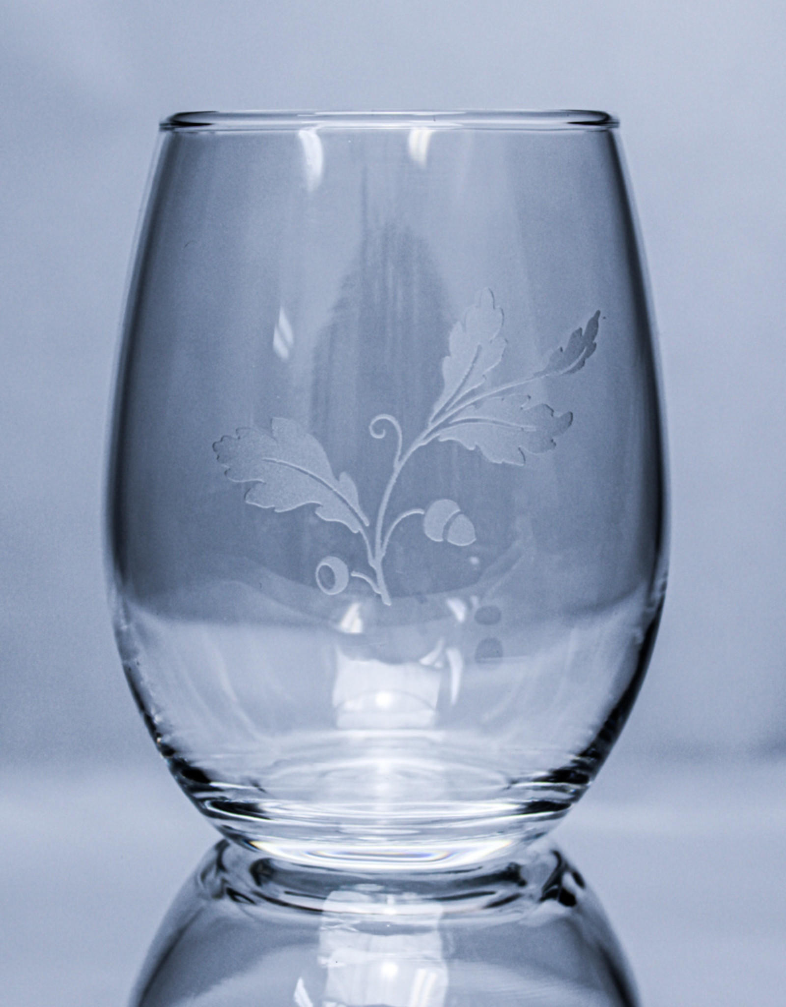 J Charles Stemless Wine - Fall Etched Glass