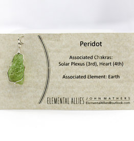 Elemental Allies Peridot Pendant Genuine Gemstone,