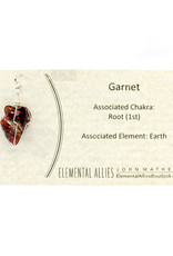 Elemental Allies Garnet Pendant Genuine Gemstone, Wire Wrapped  Birthstone