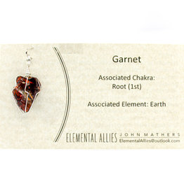 Elemental Allies Garnet Pendant Genuine Gemstone