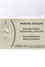 Elemental Allies Herkimer Diamond Pendant Genuine Gemstone, Wire Wrapped  Birthstone - April