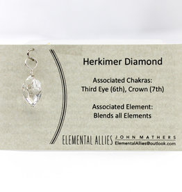 Elemental Allies Herkimer Diamond  Pendant Genuine Gemstone