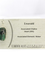 Elemental Allies Emerald Pendant Genuine Gemstone, Wire Wrapped  Birthstone - May