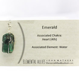Elemental Allies Emerald Pendant Genuine Gemstone